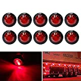 Bkinsety 10piezas Luz indicadora de marcador redonda de 3/4