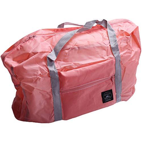 Bobin Multifunción Gran Capacidad Casual Plegable Bolsas de Almacenamiento de Equipaje una Prueba de Agua Maleta Bolsa de Viaje Bolso Organizador Bolso de Mano de Color Rosa Oscuro