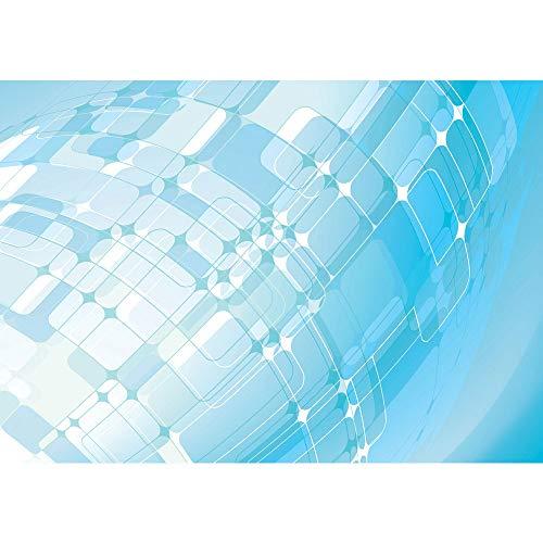 Vlies fotobehang 350x245 cm - Top ! Premium plus fotobehang. Muurschilderingen XXL muurschildering beeld fotobehang behang wandbehang wanddecoratie wand abstract achtergrond turquoise - nr. 223