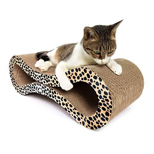 Cat Scratcher Katze Kratzbrett Bett Aufenthaltsraum, 8-förmige Corrugated Papier Cat Scratch Board Katzentoilette Klaue Spielzeug Cat Pet Supplies, Größe: 56x21.5cm Huangchuxin