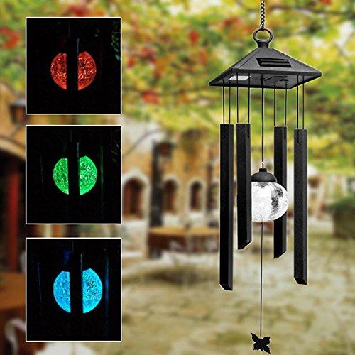 Innovation ey Solar Power Windspel Kleurrijk LED-licht Tuin erf Balkon Decoratie Lamp