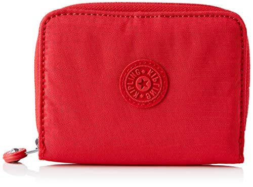 Kipling Money Love, Wallets Donna, Red Rouge, 2.5x9.5x12.5 cm