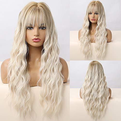 comprar pelucas mujer blanca larga