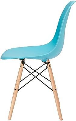 Amazon.com: Mooku azul y gris patchwork polipiel, tapizado ...