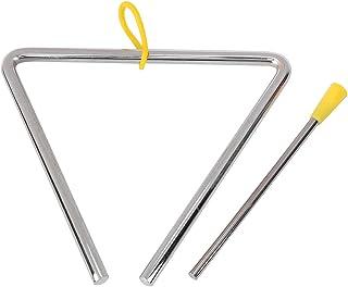 Triángulo de acero, triángulo duradero, piezas musicales de alta calidad para niños Instrumentos musicales para niños