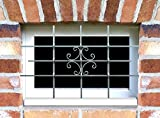 Fenstergitter LUNA Einbruchsschutz feuerverzinkt 1140 x 690 mm