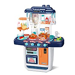 commercial Small kitchen set CUTESTONE, realistic lighting and sound, imitation children's play kitchen … kitchen play set