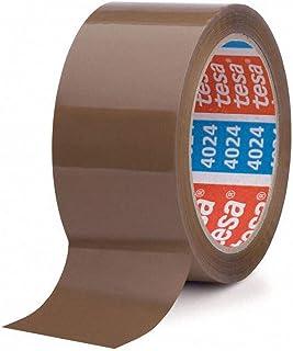6 Stk. TESA Klebeband tesapack 4024, HiTack Acrylic, 50mm x 66m, braun / PP-Klebeband mit sehr hoher Anfaßklebekraft und optimaler Verschlusssicherheit