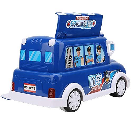 Asixxsix Juguete de vehículo de Empuje de policía, Interesante Juguete de Coche de policía de Color Brillante, con función de Almacenamiento, para niños