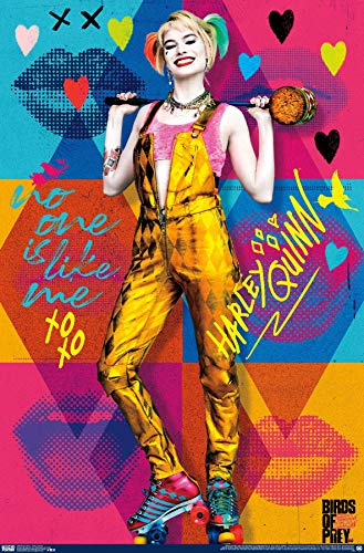 517G9Jd841L Harley Quinn Birds of Prey Posters