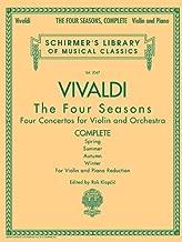 Antonio Vivaldi - The Four Seasons, Complete: Schirmer Library of Classics Volume 2047