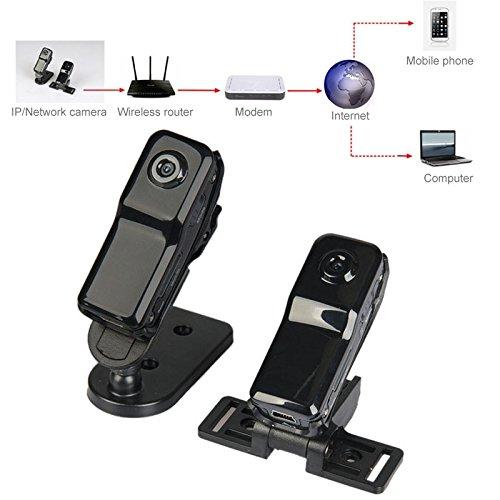 Ychaoya MD81S Professionele High Definition Draadloos P2P zakformaat Mini-IP-DV/WiFi camera/camcorder voor iPhone/Android (zwart)