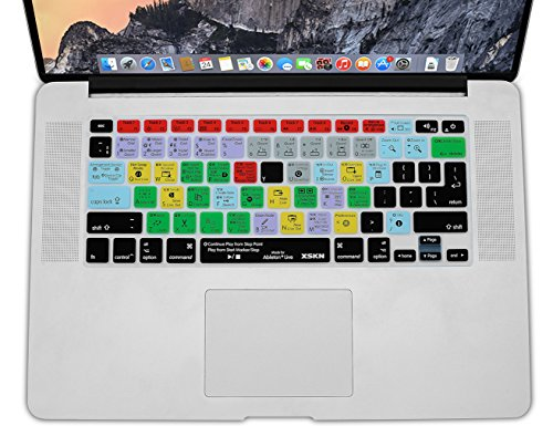 XSKN Ableton Live 9 Silicone Shortcuts Keyboard Skins are Compatible with MacBook Air 13, Pro 13, 15, 17 and Wireless Keyboard (US & EU Versions)