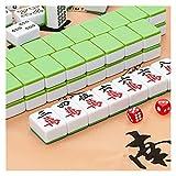 Dpliu Producto para el hogar de Mahjong de Primera Clase, Jugador de Mahjong Medio-Grande, Mantel Gratis, Bolsa Suave (Color: Verde, Tamaño: 40mm)