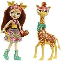 Enchantimals-FKY74 Echantimals Muñeca Gillian Giraffe, colores, única (Mattel FKY74)