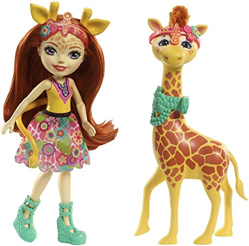 Enchantimals Muñeca con mascota Gillian Giraffe (Mattel FKY74) , color/modelo surtido