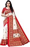 RYLAN Women's Poly Silk Floral Printed Saree with Blouse(Red)