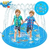 "Tobeape Sprinkler for Kids, Sprinkle & Splash Pad Play Mat, Upgraded 68"" Inflatable Outdoor Wat…"