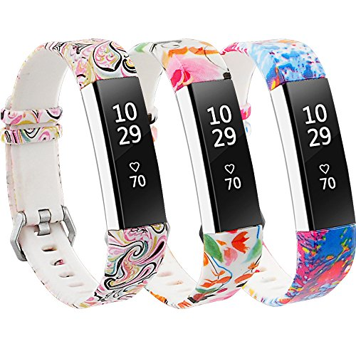 RedTaro Bands Compatible with Fitbit Alta and Fitbit Alta HR,Pack of 3(Paisley,Lotus,Splash-Ink),Standard Size for 5.5'-8.1' Wrists
