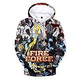 Cosplaydog New Japanese Anime Fire Force Shinra Kusakabe Long Sleeve Printing Hoodie Sweater Casual Pullover