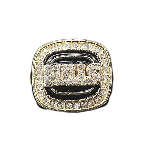 TYTY NBA 1992 Men's Basketball Professional League Chicago Bulls Championship Ring, NBA Fan Memorial Ring,with Box,11#