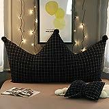 Goldenla Mädchen Schlafzimmer Rückenkissen Kronprinzessin Kissen Kinderbett Kissen abnehmbar und waschbar Große Rücken (Color : G, Size : 100cm)