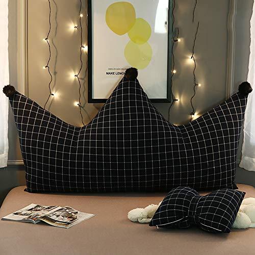 Goldenla Mädchen Schlafzimmer Rückenkissen Kronprinzessin Kissen Kinderbett Kissen abnehmbar und waschbar Große Rücken (Color : G, Size : 150cm)
