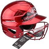 Rawlings Vapor Baseball/Softball Batter's Helmet & Face Guard Mask (RED)