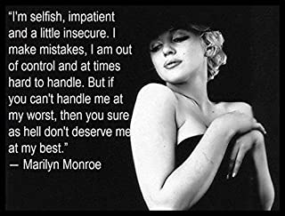 Marilyn Monroe Quote Fridge Magnet 3.5 x 5 Magnetic Poster Canvas Print