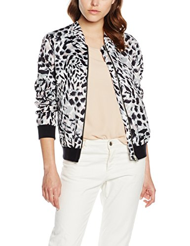 New Look Animal Print Bomber-Giacca Donna White (White Patterned) 48