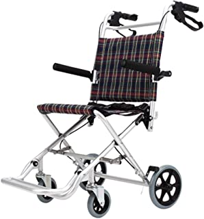 Transit Wheelchair,Foldable Easy Operation Seat and Backrest Ergonomic Maximum Weight Supported 100Kg Heavy SZWHO