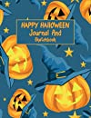 Happy Halloween Journal And Sketchbook: Lovely Halloween Pages for Drawing, Writing, Painting, Sketching, & Doodling Large 8.5 x 11 Drawing Pad ll 100 Pages ll Gift Idea for Halloween Lovers