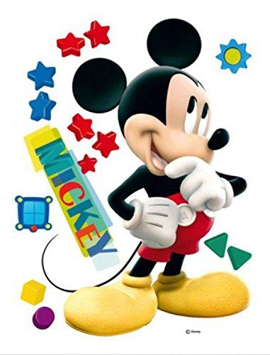 1art1 Walt Disney Sticker Adhésif Mural Autocollant - Mickey Mouse, Big Star (85 x 65 cm)