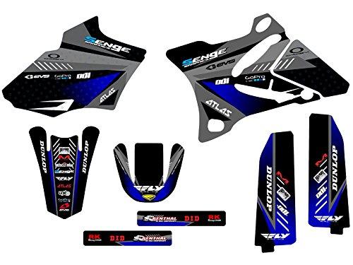 2002-2014 YZ 85, Surge Black Base kit, Senge Graphics, Compatible with Yamaha