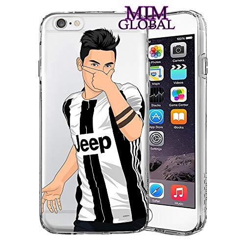 MIM Global Football Soccer Custodie Case Cover Compatibile per Tutti iPhone (iPhone X/XS, Dybala)