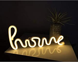 Neon Sign Letters Neon Home Shape Sign LED Neon Word Neon Letter Sign Art Wall Decorative for Room Wedding Party Supplies Kids Gifts