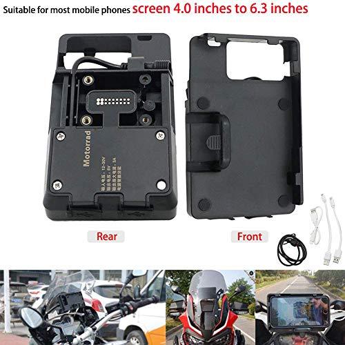Motoparty R1200GS Handy GPS Halterung Zubehör für BMW R1200 GS LC ADV 1200 1200GS USB Ladegerät Halter Kit