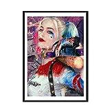 Pintura de acuarela moderna moda mujer sexy payaso lienzo abstracto pintura arte impresión cartel im...