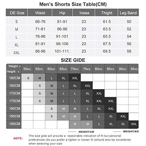 XGC Herren Radhose Radlerhose Fahrradhose,Atmungsaktiv Sports MTB Kurz Hose für Männer (Black, S) - 7