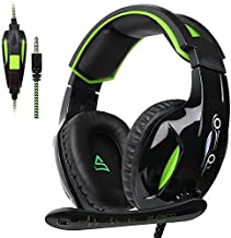 SUPSOO G813 PS4 Gaming Headset for Xbox One Over Ear Headphones with Mic LED Lights Noise-canceling Microphone for Xbox One, Xbox One S,PS4, PS4 PRO, Laptop Mac Tablet