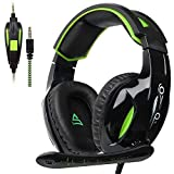 PS4 Gaming Headset for Xbox One Over Ear Headphones with Mic Noise-canceling Microphone for Ps4, Laptop Mac Tablet