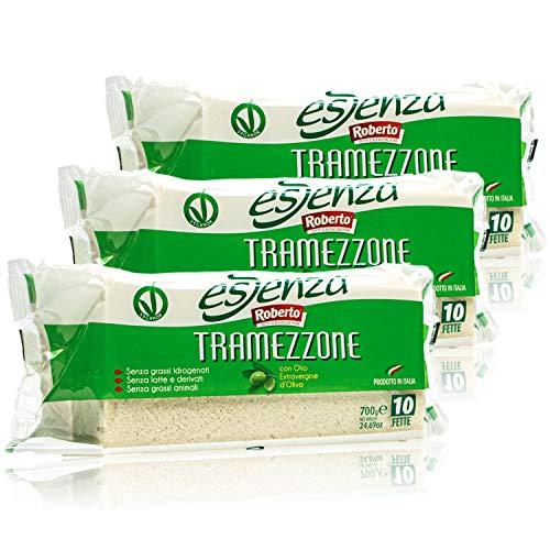 Roberto - 3er Pack Original italienisches Tramezzini Essenza Weißbrot mit Olivenöl - Weissbrot Tramezzone (Toast ohne Rand, Rinde) in 700 g Packung