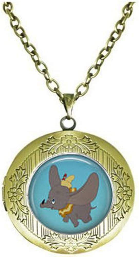 Year-end annual Max 83% OFF account Dumbo Locket Necklace