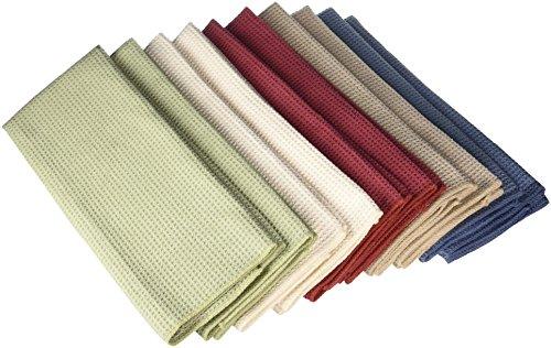 Eurow - Asciugamani da cucina in microfibra ad asciugatura rapida, confezione da 10