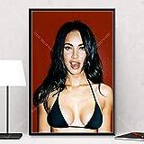 Megan Fox Mädchen Filmstar Leinwand Poster Filmdruck Home