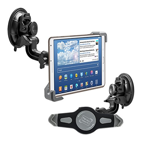 kwmobile Supporto Tablet Tablet 7-8' per Auto - Regolabile 21,0-27,0 cm orientabile 360° con Ventosa per Vetro Parabrezza e superfici Lisce - Sostegno Universale per Tab iPad