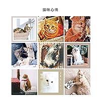 ドットステッカー付きの壁の美的装飾のための写真コラージュキットウォールアート美的壁コラージュキットプリント(Color:cat,Size:9pcs)