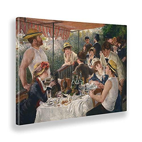 Giallobus - Pinturas - Pierre Auguste Renoir - Almuerzo en Fiesta en Barco - Lienzo - 140x100 - Listo para Colgar - Cuadros Modernos para el hogar