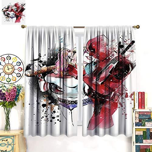 517GMAvixyL Harley Quinn  Curtains