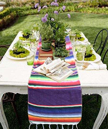 Azwedding35 x 215 cm mexikanischen Tischläufer natur Jute für Hochzeit Festival Event Tisch Dekoration